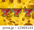 トリプルセブン ラッキーセブン 777のイラスト 12969144