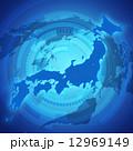 日本地図 日本 地図のイラスト 12969149