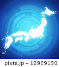 日本地図 日本 地図のイラスト 12969150