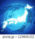 日本地図 日本 地図のイラスト 12969152