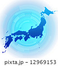 日本地図 日本 地図のイラスト 12969153