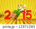 正月飾り 門松 はがきテンプレートのイラスト 12971383