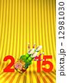 正月飾り 門松 はがきテンプレートのイラスト 12981030