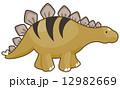 ステゴサウルス 恐竜 イラストのイラスト 12982669