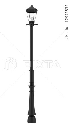 vintage street lamp isolated on white backgroundのイラスト素材