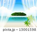 カーテン ベクター 島のイラスト 13001598