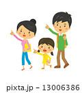 3人家族 ベクター 指差しのイラスト 13006386