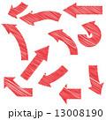 セット 赤 やじるしのイラスト 13008190