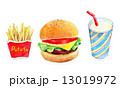 ハンバーガーセット 13019972