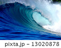 Blue surfing wave 13020878