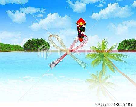 海 のし紙 背景 13025485