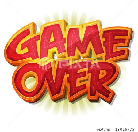 game over icon for ui gameのイラスト素材 13026775 pixta