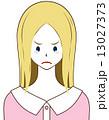 我慢 涙目 悔しいのイラスト 13027373