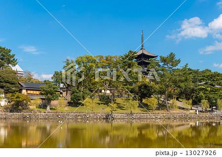 猿沢池と五重塔 13027926