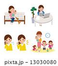 育児 子育て 女性のイラスト 13030080