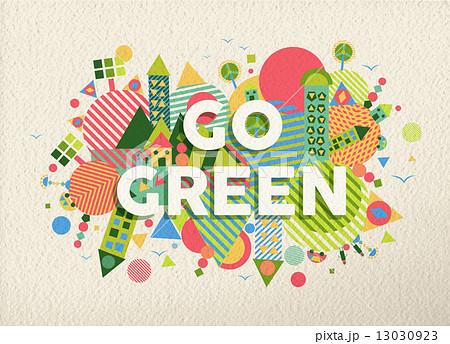 go green quote poster design backgroundのイラスト素材 13030923 pixta