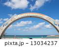 トロピカルビーチ 砂浜 沖縄の写真 13034237