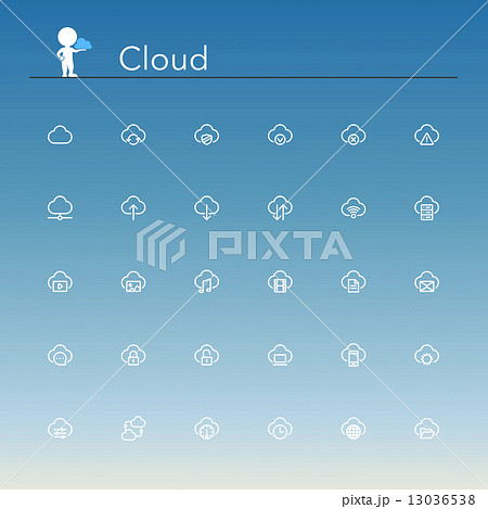 Cloud Line Icons 13036538