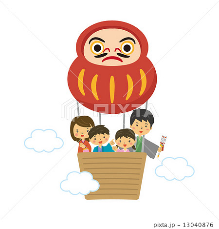 ファミリー 正月 達磨 気球 13040876