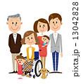 車椅子 介護 ベクターのイラスト 13042828