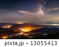 雲海夜景と天の川 13055413