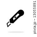 ナイフ 出刃 白バックのイラスト 13055891