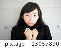 寒さ 冬 女性の写真 13057890
