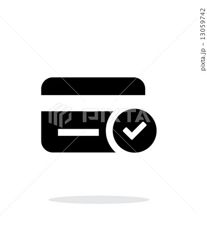 credit card access icon on white background のイラスト素材 13059742