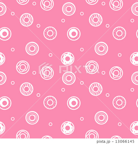 Vector sweet donuts seamless pattern. Pastry background 13066145