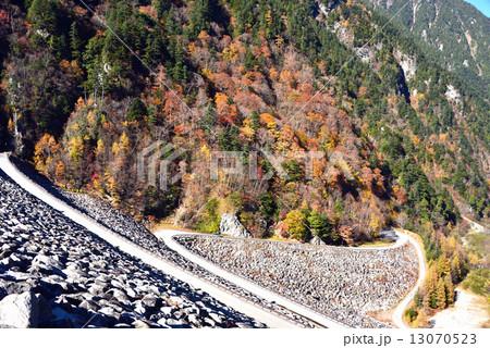 高瀬ダム堰堤より俯瞰 13070523