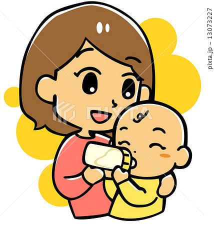 ミルクを飲む赤ちゃん 13073227