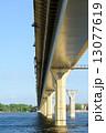 Bridge on the river Volga, Russia 13077619