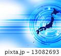 日本列島 日本地図 日本のイラスト 13082693