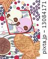 和菓子なイラスト素材 はがきサイズ 13084171