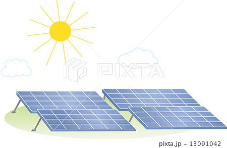 太陽光パネルイラスト 13091042