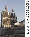 タワークレーン ビル工事 工事現場の写真 13091331