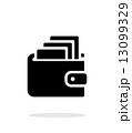 白背景 財布 お財布のイラスト 13099329