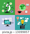 innovation 革新 顕微鏡のイラスト 13099857