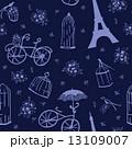 シームレス パターン 柄のイラスト 13109007