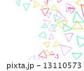 色鉛筆画 色鉛筆 三角のイラスト 13110573