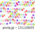 四角形 色鉛筆画 カラフルのイラスト 13110605