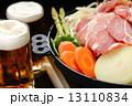 ジンギスカン 焼き野菜 ビールの写真 13110834