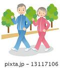 ウォーキングする高齢者 シニア 13117106