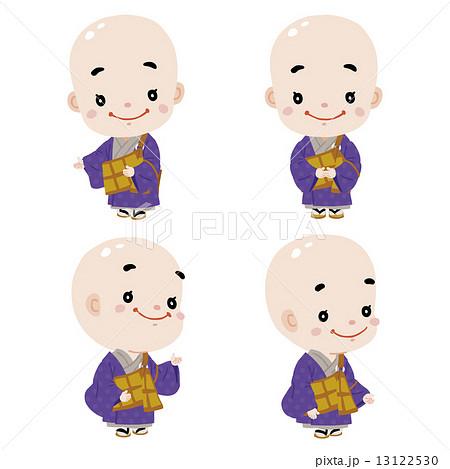 かわいいお坊さん01のイラスト素材 13122530 Pixta