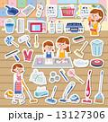 主婦 大掃除 掃除のイラスト 13127306