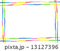 色鉛筆画 カラフル フレームのイラスト 13127396