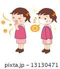 風邪 ウィルス 咳のイラスト 13130471
