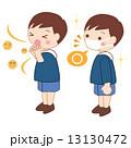 風邪 ウィルス 咳のイラスト 13130472