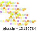 四角形 色鉛筆画 カラフルのイラスト 13130784