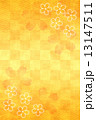 テクスチャ 金箔 和柄のイラスト 13147511
